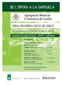 Cartell concert Opera a Sarsuela